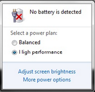 Brak wykrycia baterii w laptopie